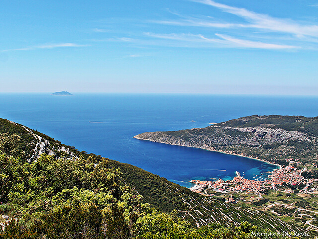 Island of Vis – 28 miles from the coast